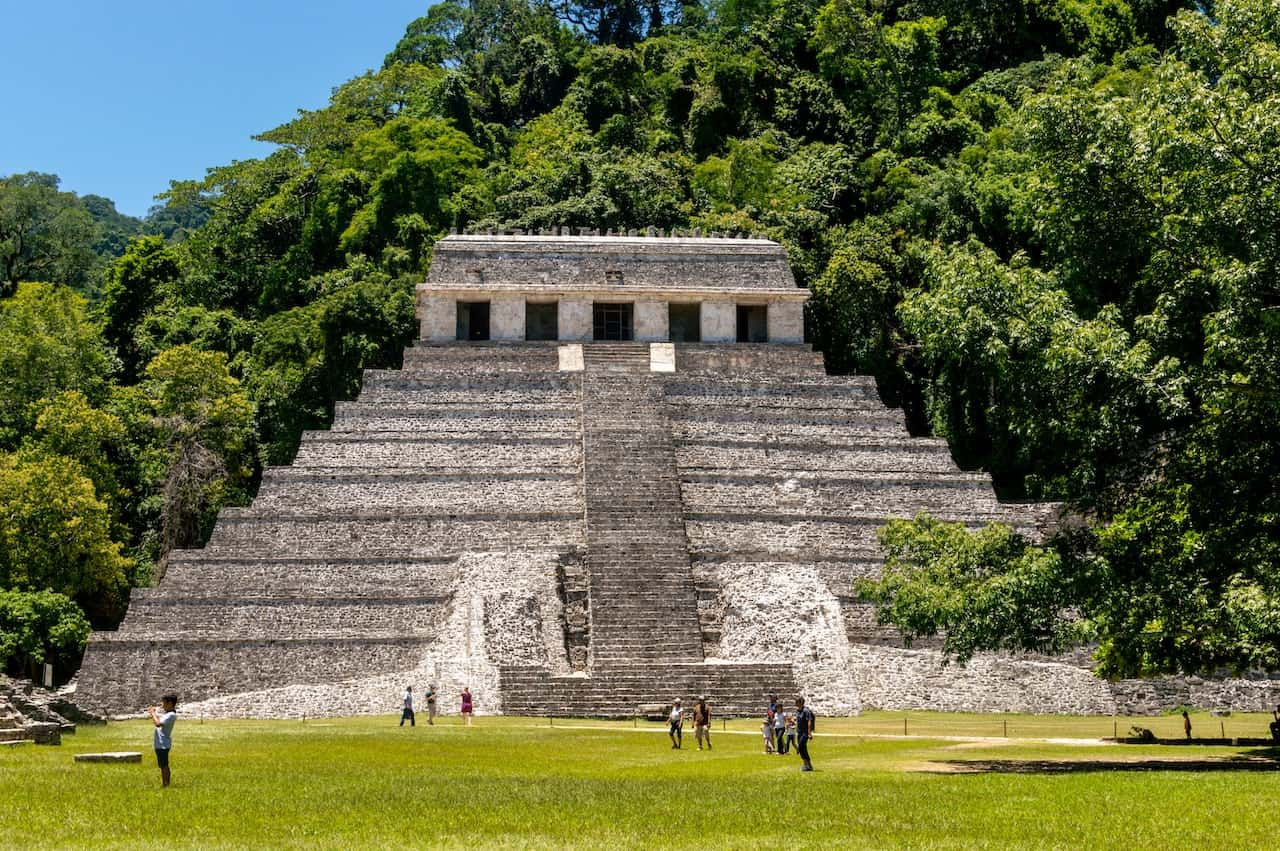The Mayan Ruins Of Palenque In Chiapas Mexico