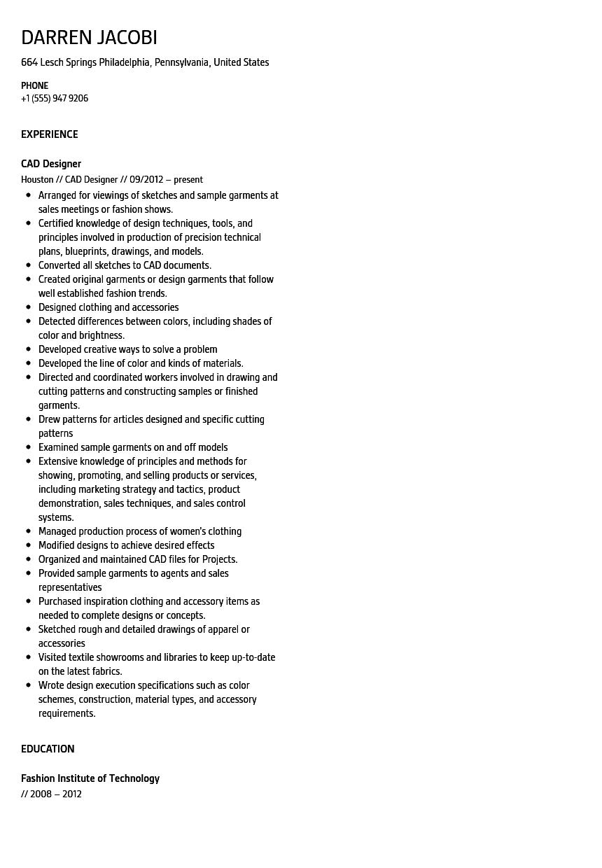 retail resume examples 2012
