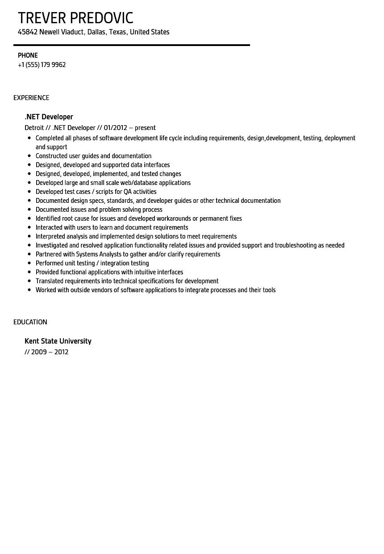 sample tabelau developer resume