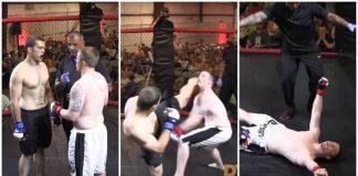 Polícia entra em combate de MMA e vence o adversário com apenas um golpe