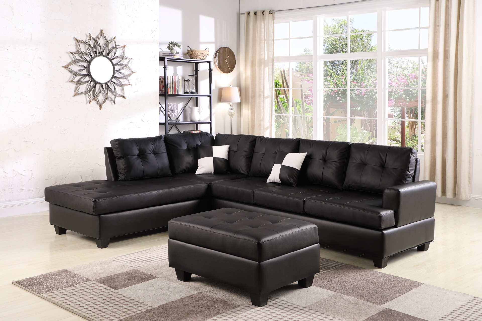 Lounge Suites Ashton 5 Seater Corner Sofa Pu