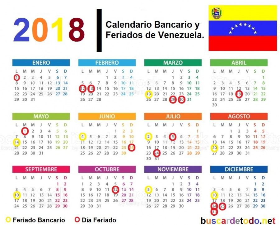 Calendario días bancarios y feriados 2018 - Agencia de Noticias
