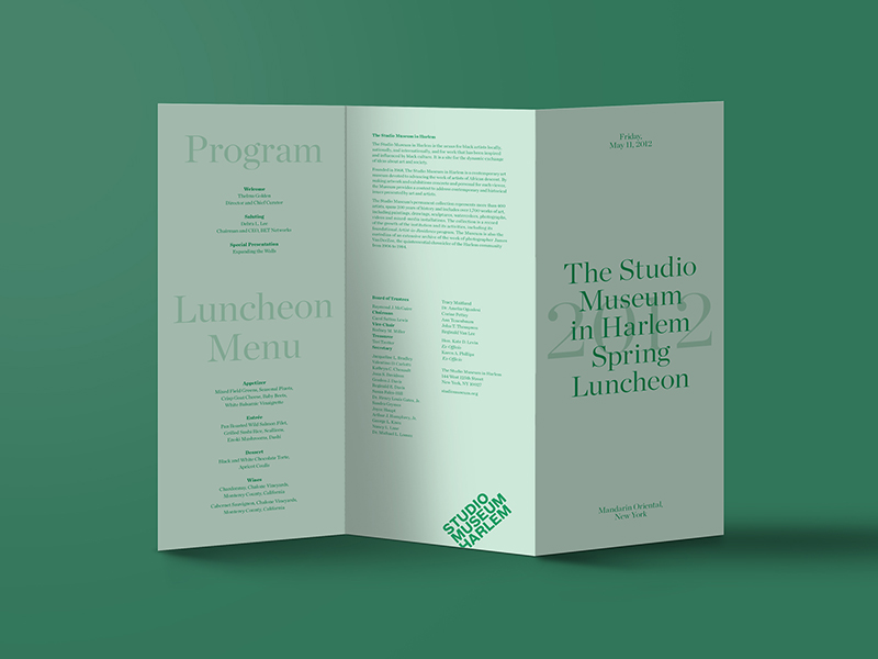 Studio Museum Green Tri Fold Brochure Idea - 1000+ Infographics - studio brochure