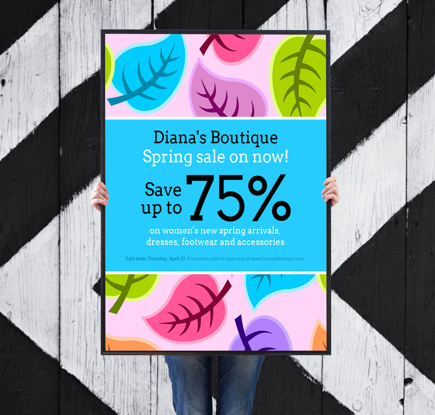 Flyer Ideas Colorful Spring Clothing Sales Flyer Idea Venngage Flyer Examples