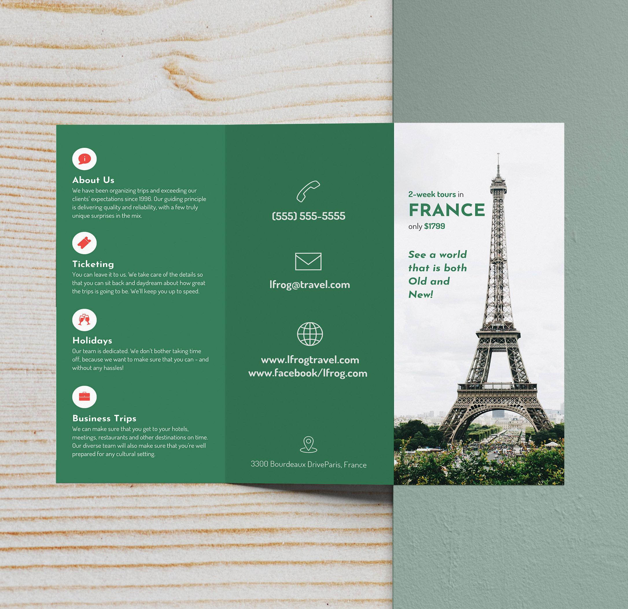 advertisement brochure sample