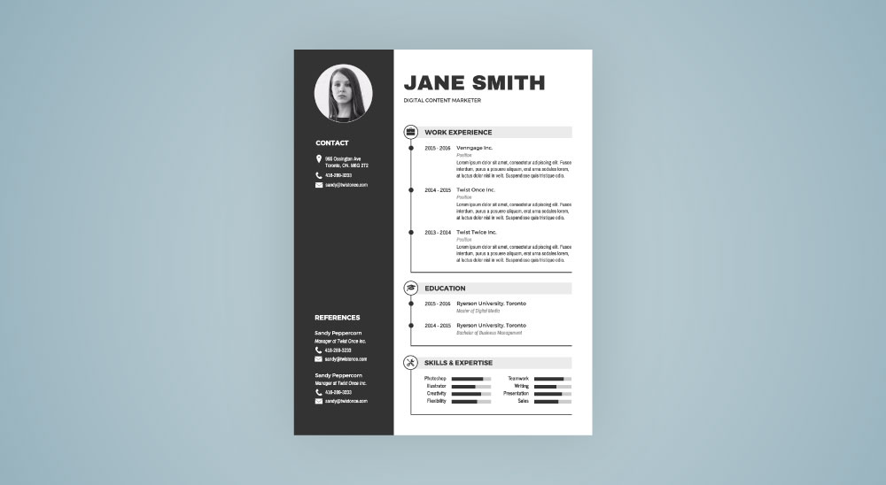 Infographic Resume Template - Venngage - photo on resume