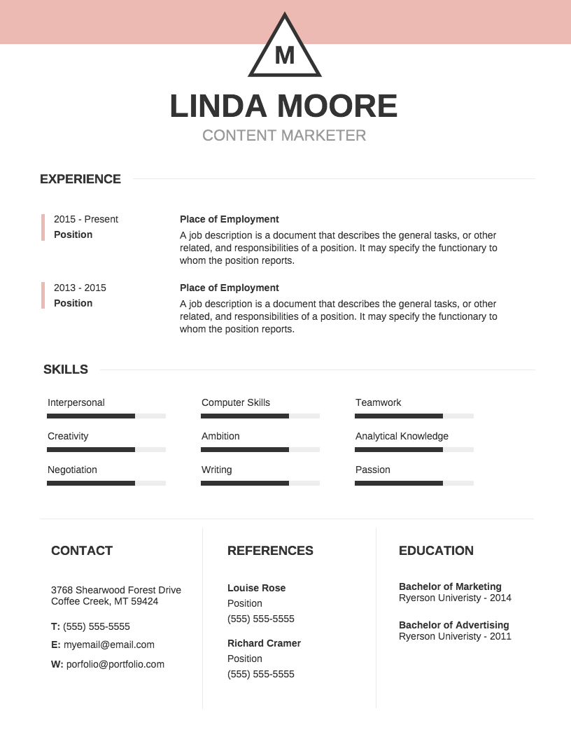 resume to template