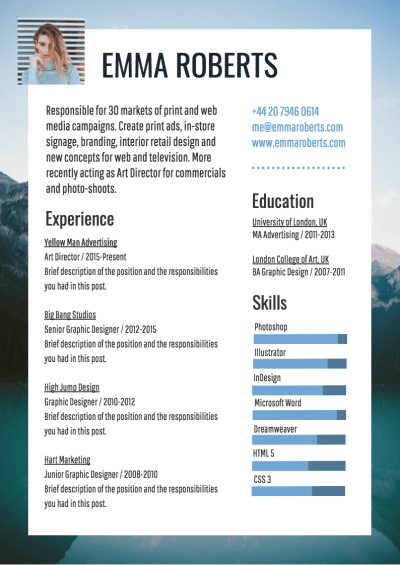 Infographic Resume Template - Venngage