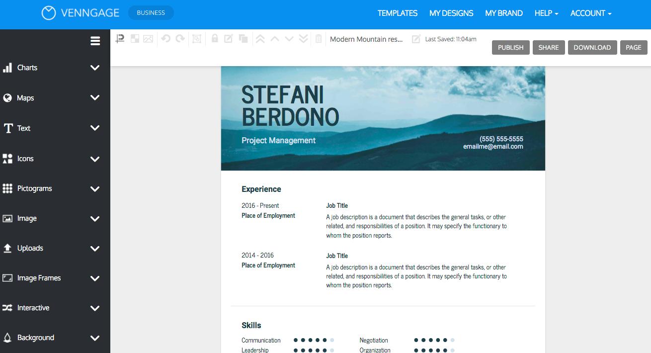 online resume builder phone number