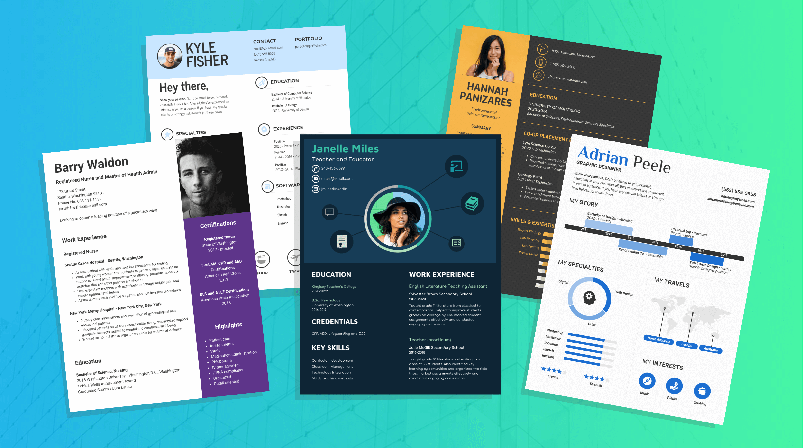 free two column resume template download