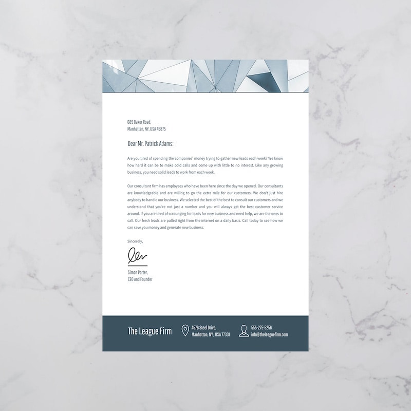 15+ Professional Business Letterhead Templates and Design Ideas
