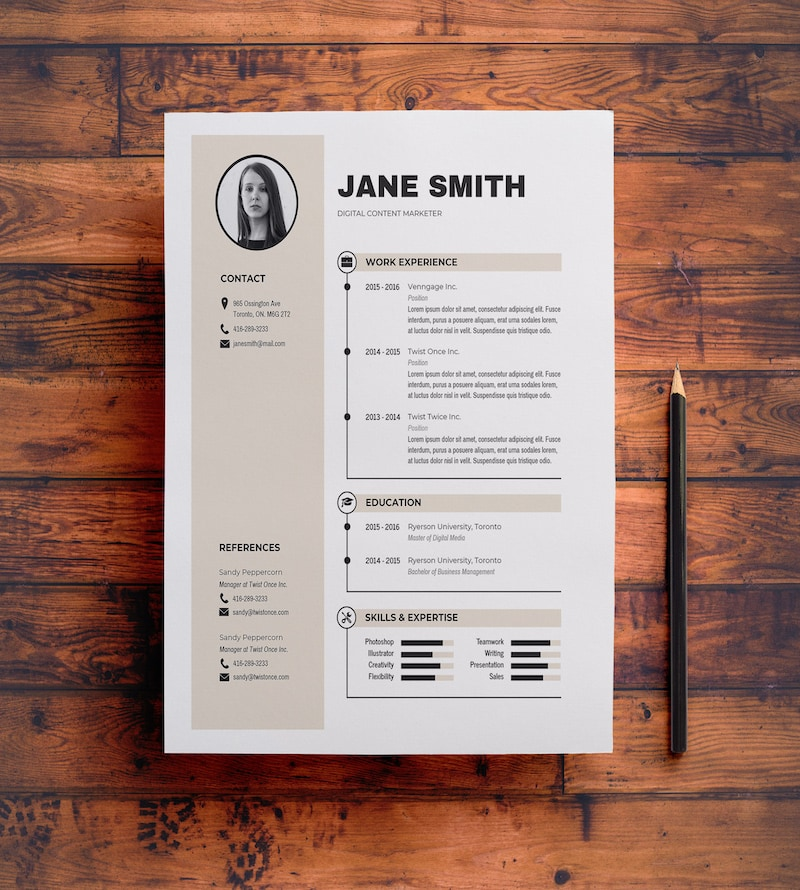 how to make your own resume template on word
