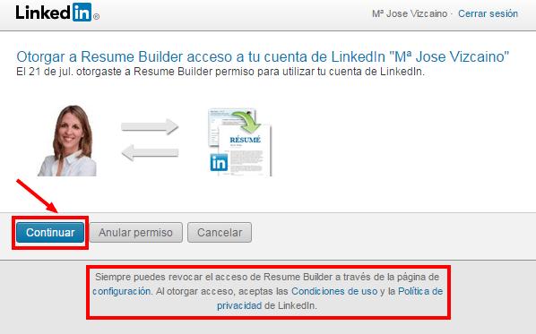 Resume Builder, la herramienta crea-CV de Linkedin