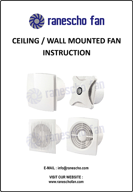 MANUAL-OPERATION--DGA-CEILING-FAN-Cover