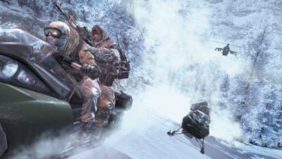 modern warfare 2 snowmobile