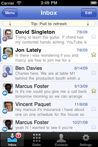 google voice iphone screenshot