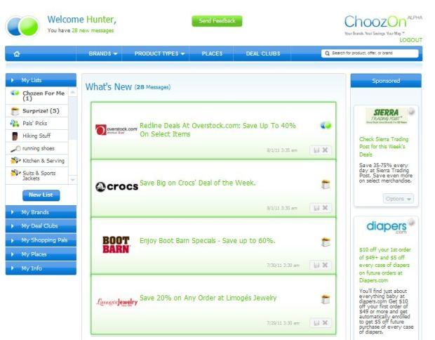 ChoozOn Home Page