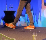 Box chief executive Aaron Levie's shoes in 2011.
