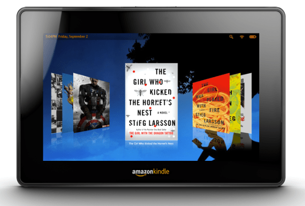 Mockup of what the Amazon Kindle Tablet might look like, from Gizmodo.com