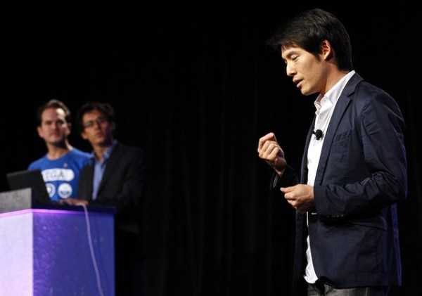 Tony Young Lyu of AdGame makes his presentation onstage at Demo Fall 2011