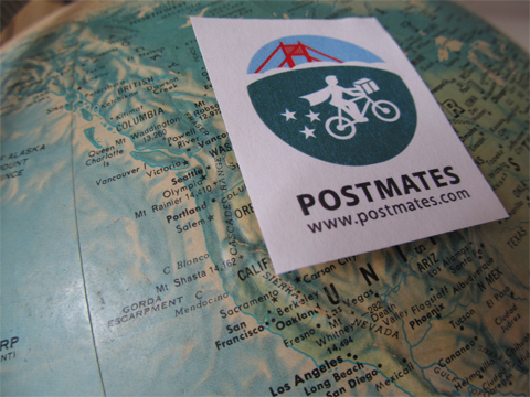 """Postmates' customers pay through the app to purchase items and have them delivered. Just like Lyft, Postmates takes a cut, in this case between 20 and 40 percent. """"We started Postmates because we realized that there is no FedEx- or UPS-like infrastructure in place for local or same-day deliveries,"""" CEO Bastian Lehmann said.."""