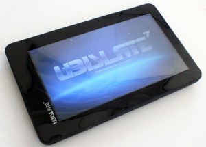 Main screen of the $35 Aaakash android tablet