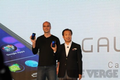 JK Shin, Andy Rubin debuting Galaxy Nexus