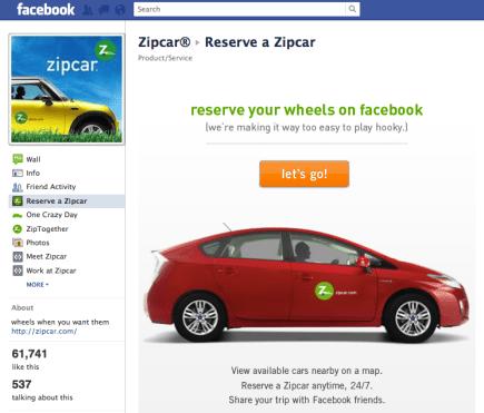 Facebook Zipcar
