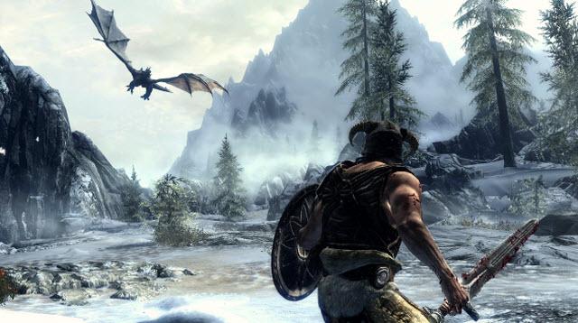 skyrim dragon main