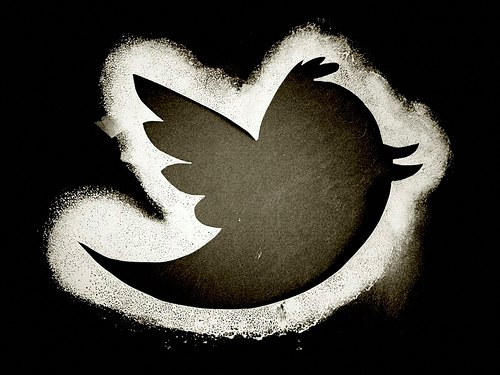 twitter bird black