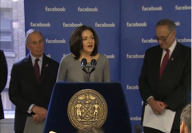 sheryl sandberg mayor bloomberg