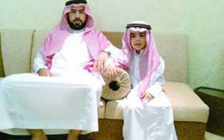 saudi man and son
