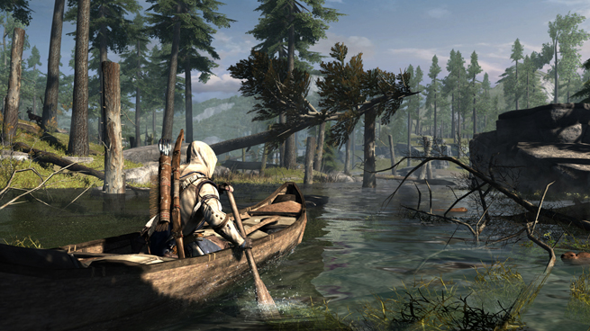 Assassin's Creed 3_Frontier_Canoe