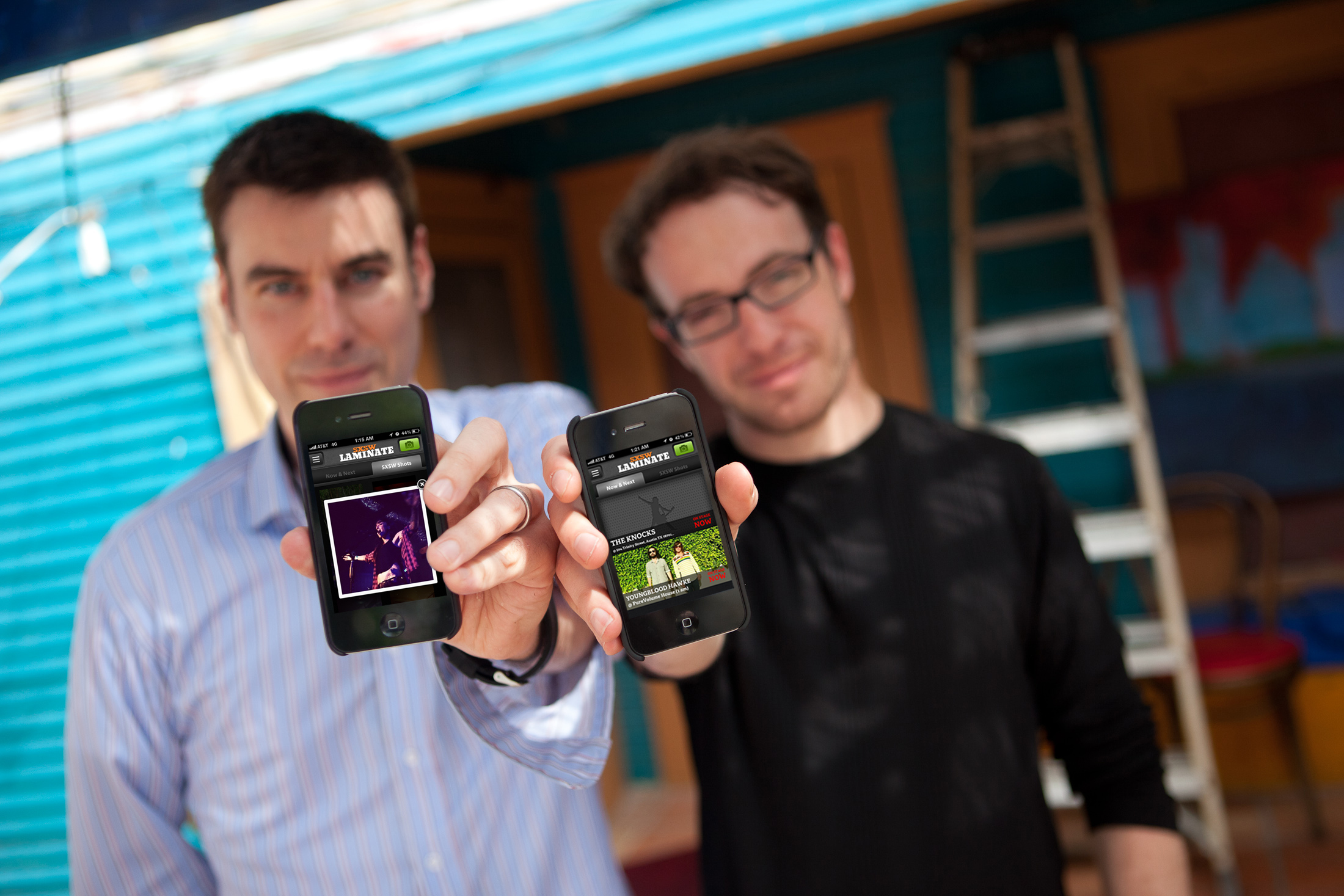 Eric Garland (left) and Ethan Kaplan (right), creators of LN Labs