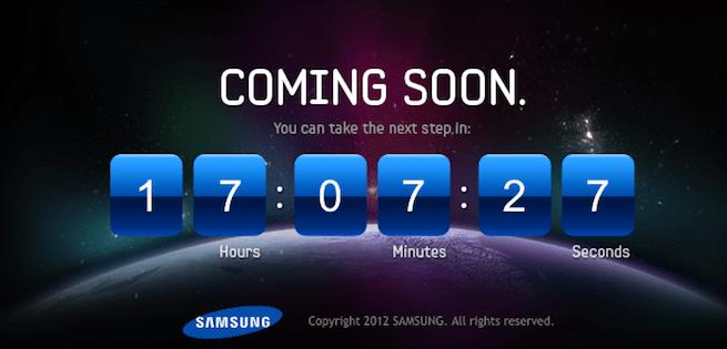 Samsung Galaxy S III countdown