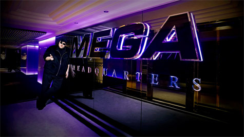 kim dotcom at megaupload headquarters