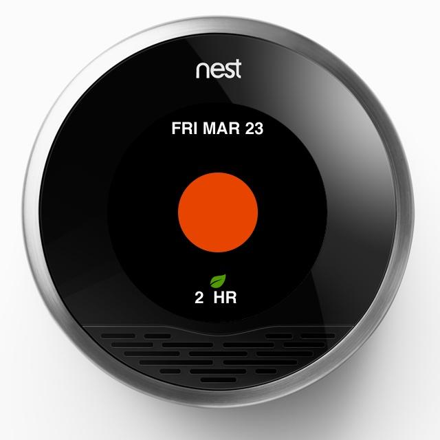 Nest thermostat energy history
