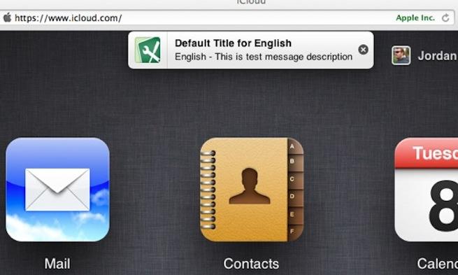 iCloud notifications
