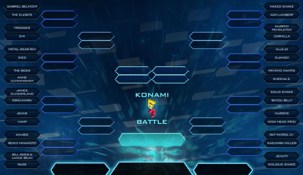 Konami E3 Battle brackets
