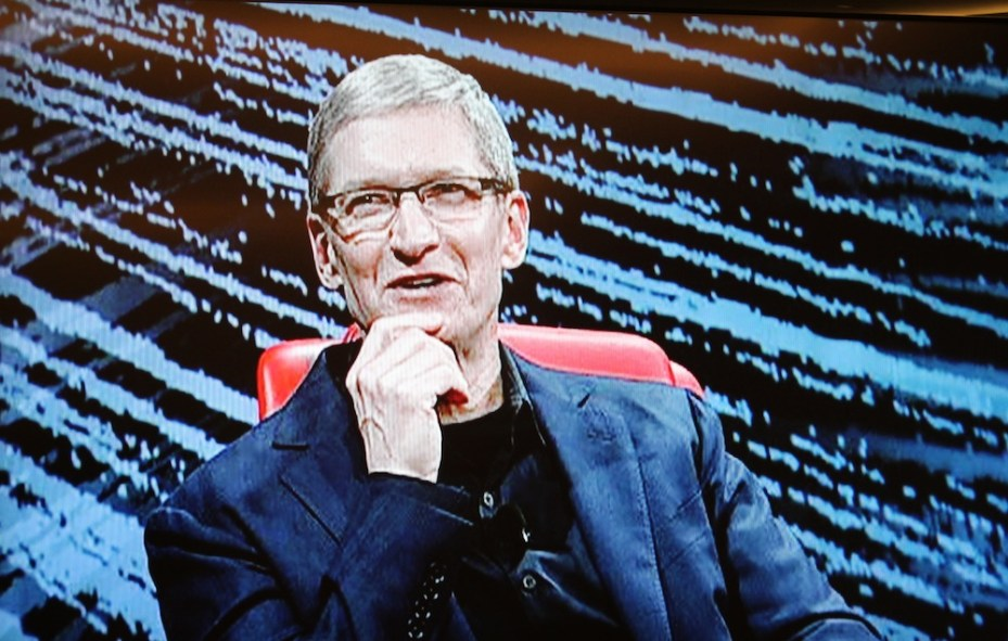 Tim Cook onstage at the D10 conference