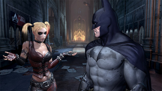 Batman and Harley Quinn in Arkham City