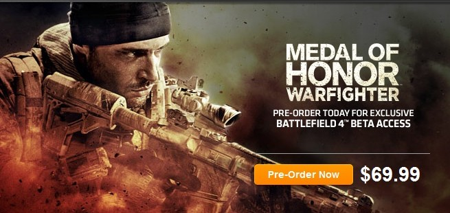Get Battlefield 4 beta with Medal of Honor: Warfighter pre-order
