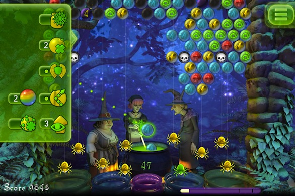 Bubble Witch Saga mobile screen