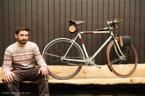 Walnut Studiolo founder Geoffrey Franklin, and bicycle