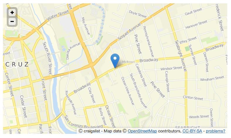Craiglist Padmapper feature