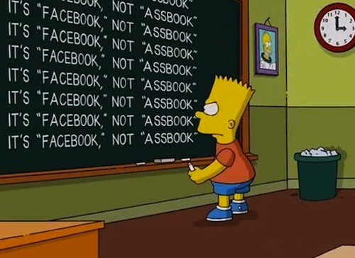 Simpsons Facebook