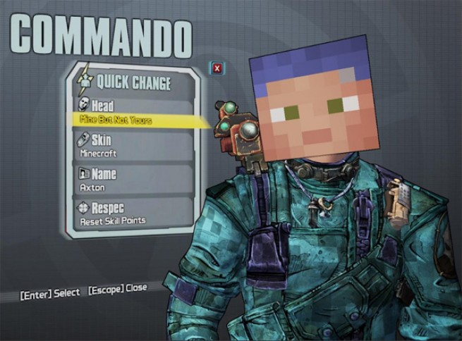 Borderlands 2 Minecraft