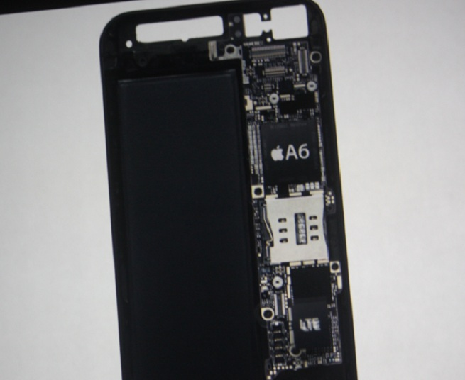 The interior of the iPhone 5