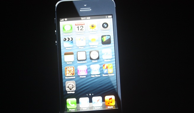 The first view of Apple's iPhone 5