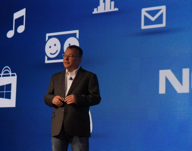 Stephen Elop at the Windows Phone 8 launch event